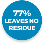 77% leaves no residue